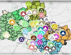 Карта пунктов приема опасных отходов